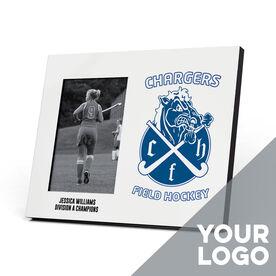 Field Hockey Photo Frame - Custom Logo