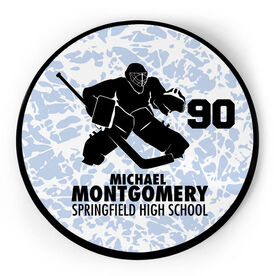 Hockey Circle Plaque - Goalie With Text