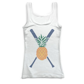 Softball Vintage Fitted Tank Top - Pineapple Stitches