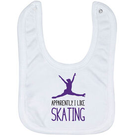 Figure Skating Baby Bib - I'm Told I Like Skating