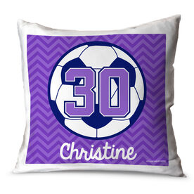 Soccer Throw Pillow Personalized Soccer Ball With Chevron