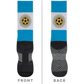 Soccer Printed Mid-Calf Socks - Argentina