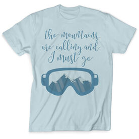 Skiing & Snowboarding Vintage T-Shirt - The Mountains Are Calling