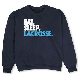 Lacrosse Crew Neck Sweatshirt - Eat Sleep Lacrosse (Bold)