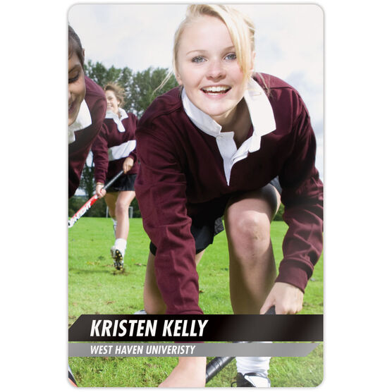 "Field Hockey 18"" X 12"" Aluminum Room Sign - Classic Vertical Photo"