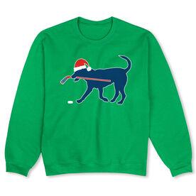 Hockey Crew Neck Sweatshirt - Christmas Dog