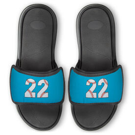Baseball Repwell™ Slide Sandals - Baseball Number Stitches