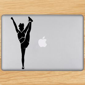 Cheerleader Foot Grab Silhouette Removable ChalkTalkGraphix Laptop Decal