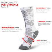 Guys Lacrosse Woven Mid-Calf Socks - Digital Camo