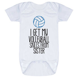 Volleyball Baby One-Piece - I Get My Skills From