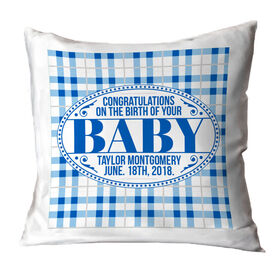 Personalized Throw Pillow - Congrats Baby
