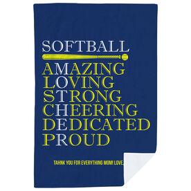 Softball Premium Blanket - Mother Words