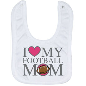 Football Baby Bib - I Love My Football Mom