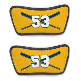 Softball Repwell® Sandal Straps - Crossed Bats with Numbers