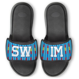 Swimming Repwell® Slide Sandals - Swim Lanes with Text