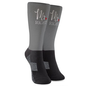 Personalized Printed Mid-Calf Socks - Mr. Right