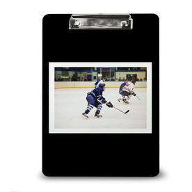 Hockey Custom Clipboard Hockey Your Photo Solid Background