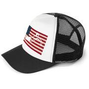 Swimming Trucker Hat - American Swimmer (Guy)