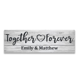 "Personalized 12.5"" X 4"" Removable Wall Tile - Together Forever"