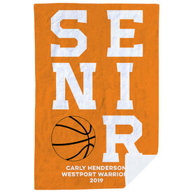 Basketball Premium Blanket - Personalized Senior
