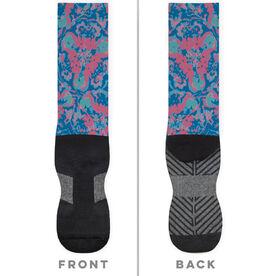 Printed Mid-Calf Socks - Floral