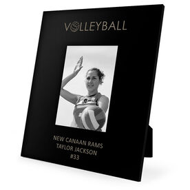 Volleyball Engraved Picture Frame - Word