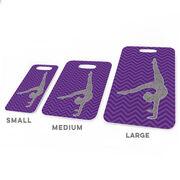 Gymnastics Bag/Luggage Tag - Faux Glitter Chevron Pattern