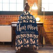 Cheerleading Premium Blanket - Mom Stripe Team Name