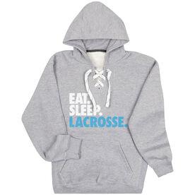 Lacrosse Sport Lace Sweatshirt - Eat. Sleep. Lacrosse.