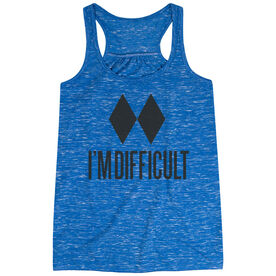 Skiing & Snowboarding Flowy Racerback Tank Top - I'm Difficult