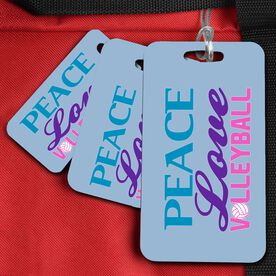 Volleyball Bag/Luggage Tag Peace Love Volleyball (Words)