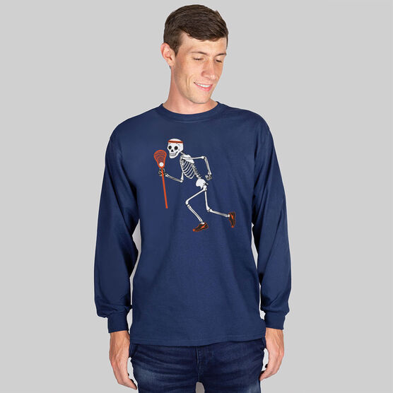 Guys Lacrosse Long Sleeve T-Shirt - Never Stop Laxing