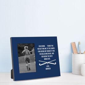 Field Hockey Photo Frame - Dear Mom Heart