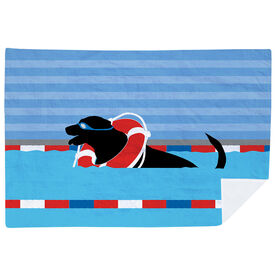 Swimming Premium Blanket - Finn the Swim Dog