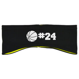 Basketball Reversible Performance Headband Personalized Number Basketball Ball