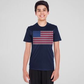 Baseball Short Sleeve Performance Tee - Patriotic Baseball