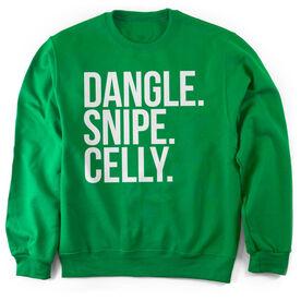 Hockey Crew Neck Sweatshirt - Dangle Snipe Celly Words