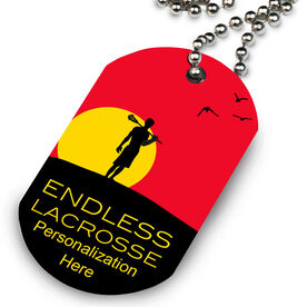 Lacrosse Printed Dog Tag Necklace Endless Lacrosse (Male)