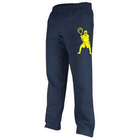 Lacrosse Fleece Sweatpants Lacrosse Goalie Silhouette
