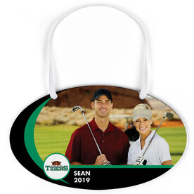 Golf Oval Sign - Team Photo and Logo