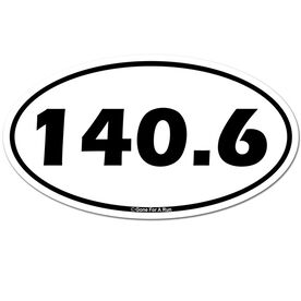 140.6 Car Magnet - White