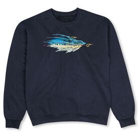 Fly Fishing Crew Neck Sweatshirt - Fly Fishing Clouser