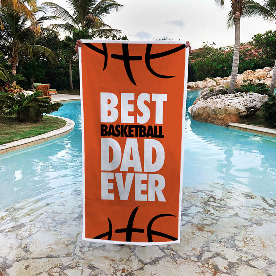 Basketball Premium Beach Towel - Best Dad Ever