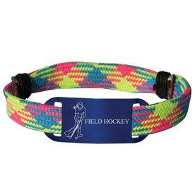 Field Hockey Lace Bracelet Player with Field Hockey Adjustable Sport Lace Bracelet