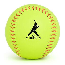 Personalized Softball Player Softball