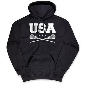 Guys Lacrosse Hooded Sweatshirt - USA Lacrosse