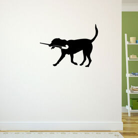 Field Hockey Dog Removable ChalkTalkGraphix Wall Decal