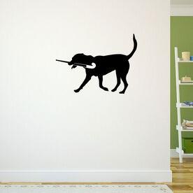 Field Hockey Dog Removable ChalkTalkGraphix Wall Decal