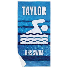 Swimming Premium Beach Towel - Personalized Team
