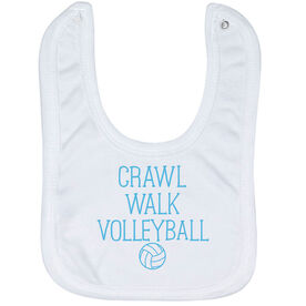 Volleyball Baby Bib - Crawl Walk Volleyball